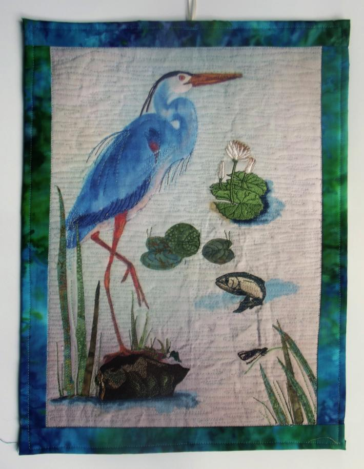 BLUE HERON WALL QUILT