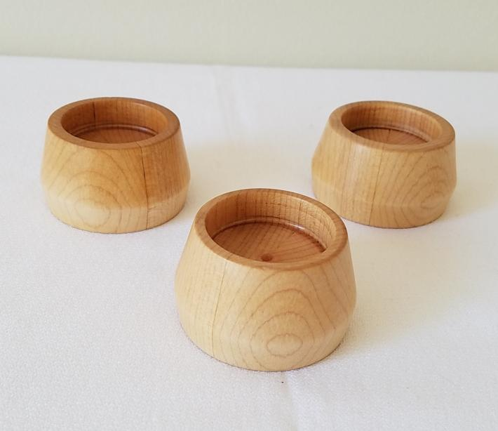 Maple Tealight Candle Holder Set