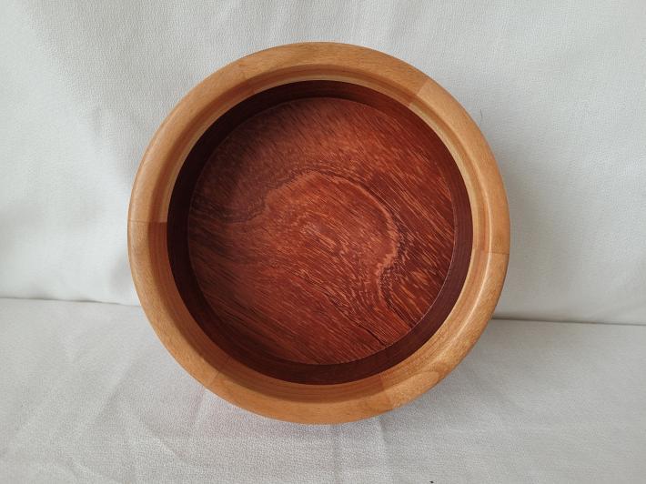 Padauk Bowl with Cherry Segmented Rim
