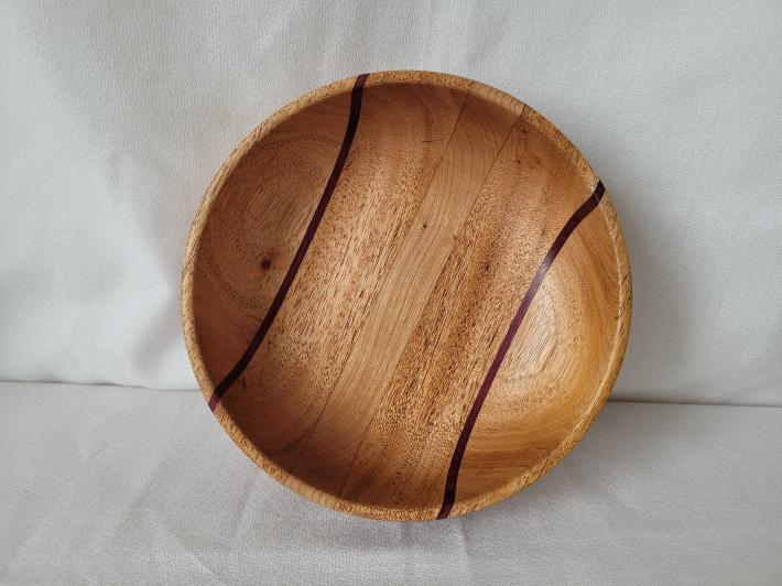 Mahogany Bowl with Cherry and Purpleheart Accents