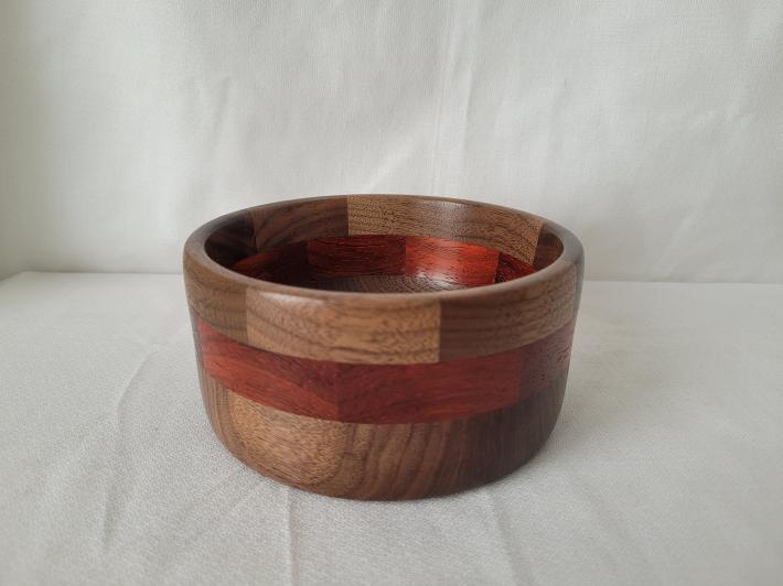 Walnut and Padauk Segmented Bowl