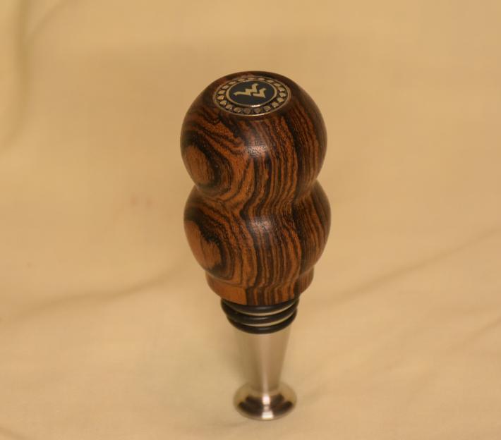 WV Bocote bottle stopper