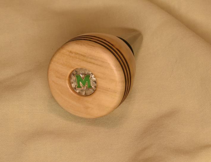 Marshall pecan wood bottle stopper