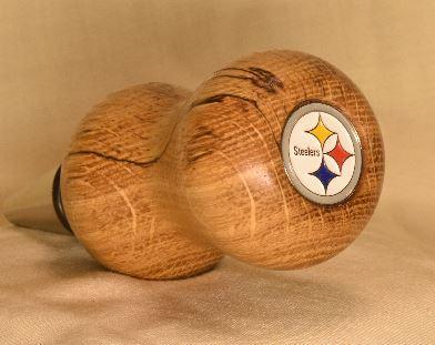 Steelers Oak bottle stopper