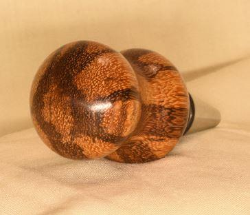 Marblewood bottle stopper