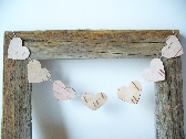 Cake Bunting Hearts  Birch Bark Rustic Wedding Birthday Party Woodland Country Wedding Decoration Event