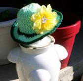 Green Crochet Infant Floppy Sun Hat
