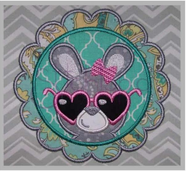 Easter Bunny Embroidered Applique