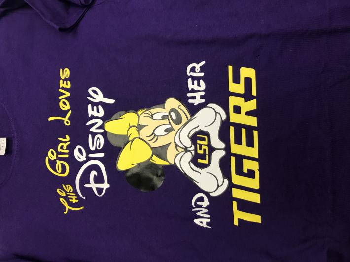 LSU Minnie Mouse Tshirt
