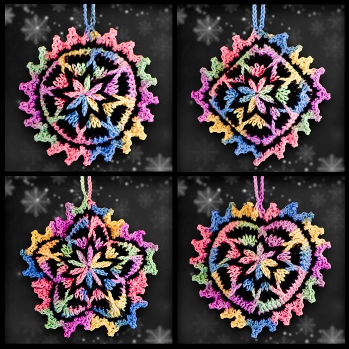 Shades of Sunrise Mosaic Ornament Set