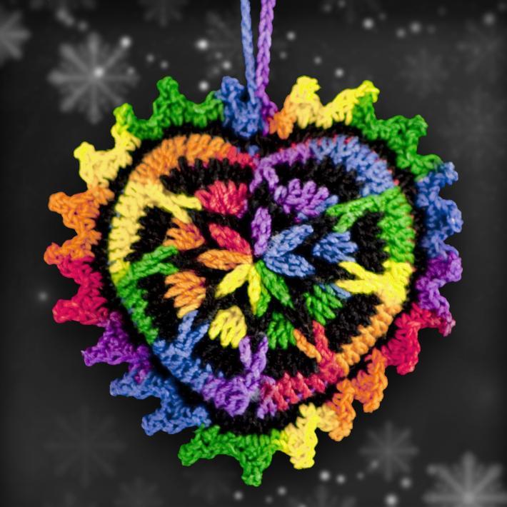 Shades of Rainbows Mosaic Ornament Set