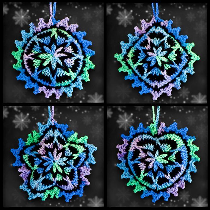 Shades of the Seashore Mosaic Ornament Set