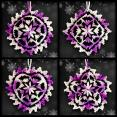 Shades of Purple Mosaic Ornament Set