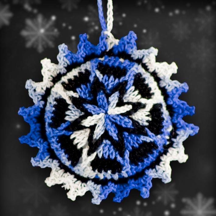 Shades of Blue Ornament Set