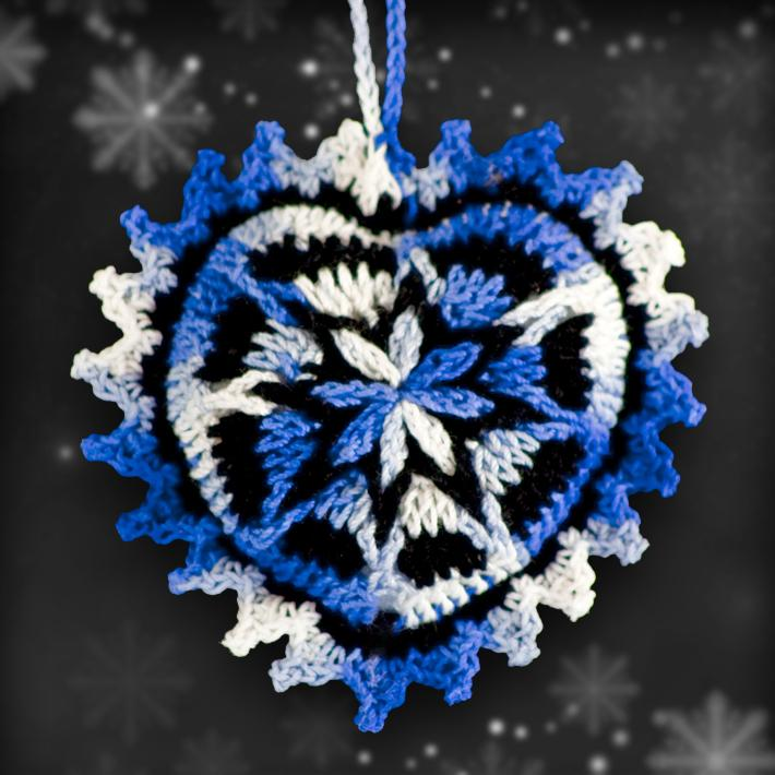 Shades of Blue Ornament Set
