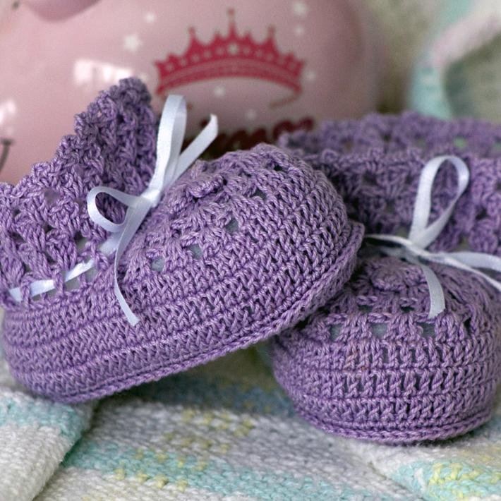 Lavender Dreams Baby Booties