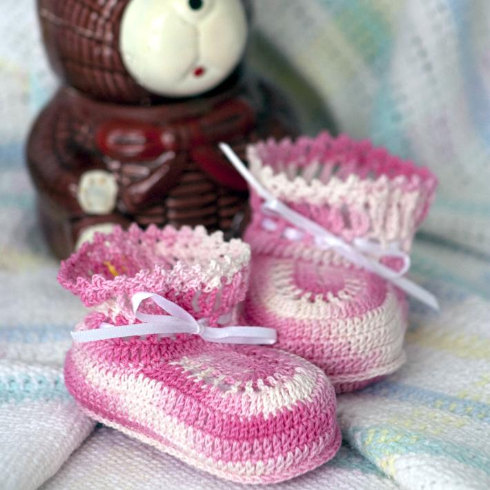 In The Pink Baby Booties