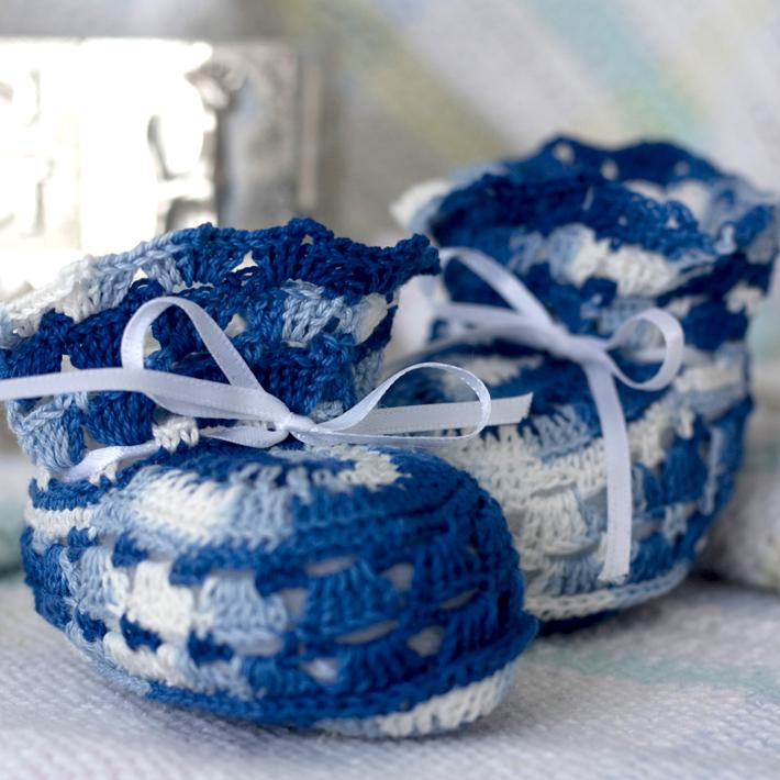 Baby Blues Baby Booties