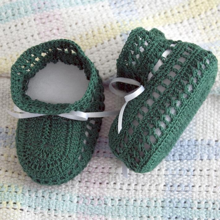 Walk in the Woods Baby Booties