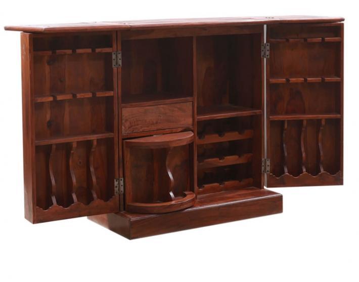 Wooden bar counter bar furniture wooden botte holder mini bar furniture