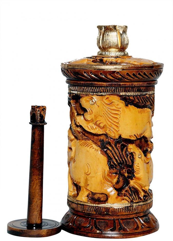 Wooden Antique Design Cigar Cigarette Holder Cigarette Case Cigarette Box H