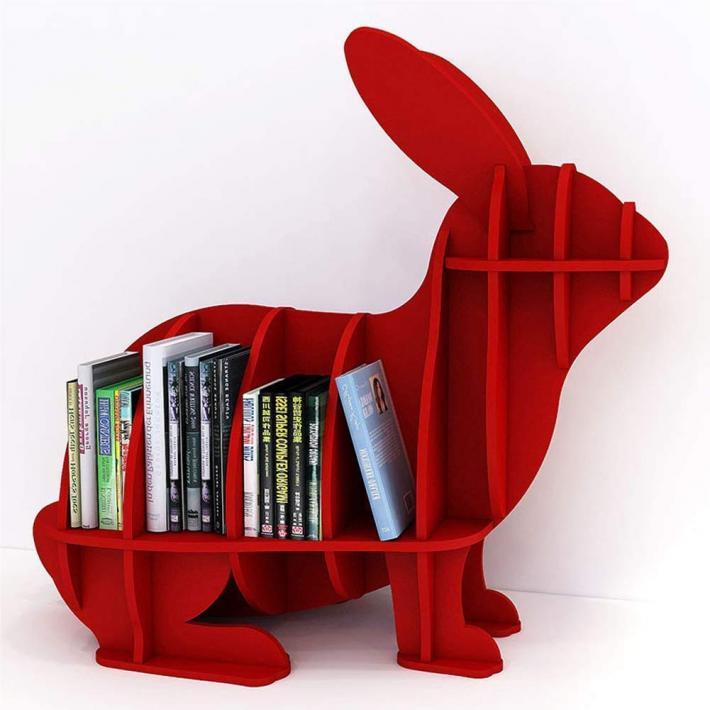 Book Shelf Portable Rabbit Appearance Storage Shelf Office and home décor