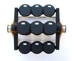 Wooden  Plastic 12 jar Wheel Kitchen Spice Rack Containers Wooden Masala Rack