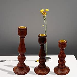 Wooden Candle Holder Stand for Home Decor Decorative Tealight Gifts Item Set of3