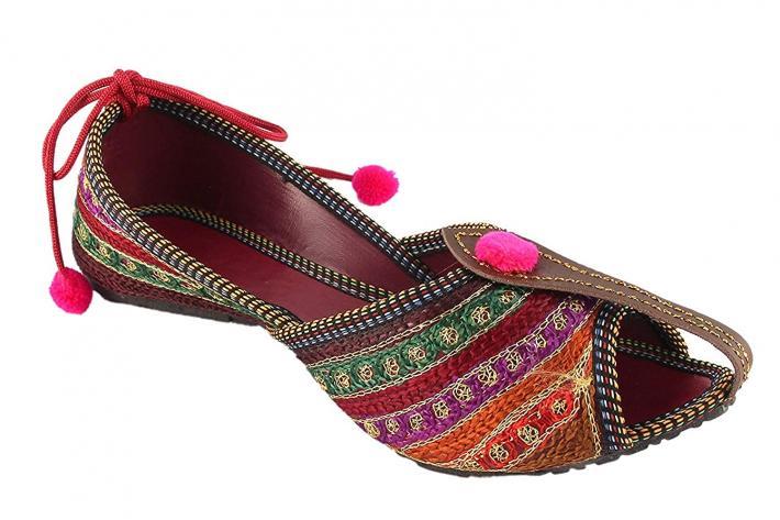 Womens Rajasthani Jaipuri Ethnic Belly Shoes Combo