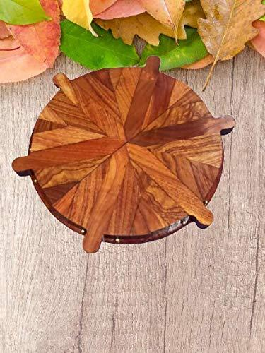 Wooden Pizza Serving Platter Six Plate Pizza Platter 6