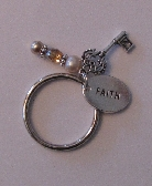 Faith, Family and Love is Key Charm Keychain