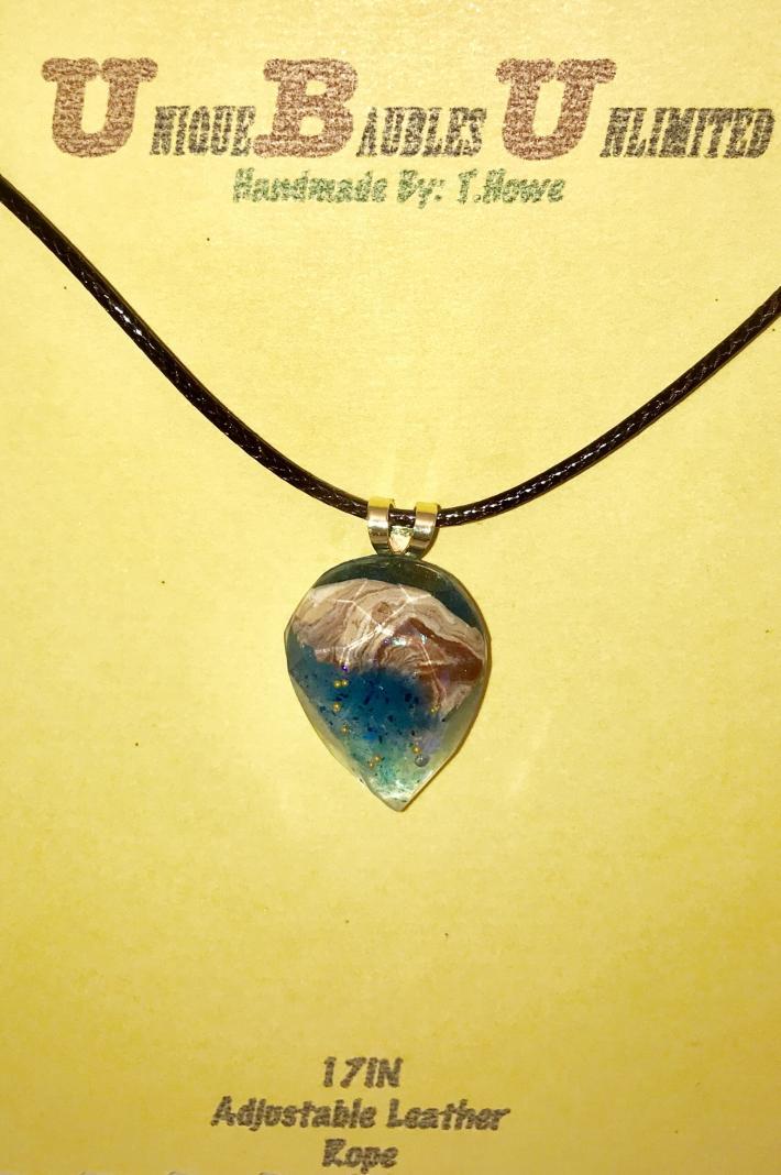 """Unique Baubles Unlimted Necklace """"Nassau Waters"""""""