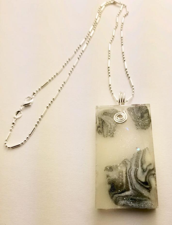 """""""Splitting Moon Stone"""" Unique Baubles Unlimited Necklace"""