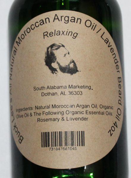 Buck Lee's Argan Lavender Relaxing Beard Oil 4oz