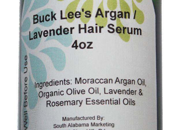 Buck Lees Natural Argan and Olive Oil Lavender Hair Serum 4oz