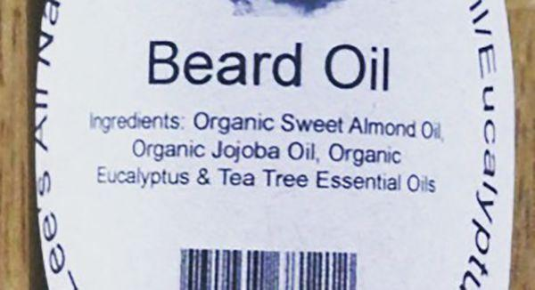 Buck Lees All Natural Sweet Almond Eucalyptus Tea Tree Beard Oil 4oz