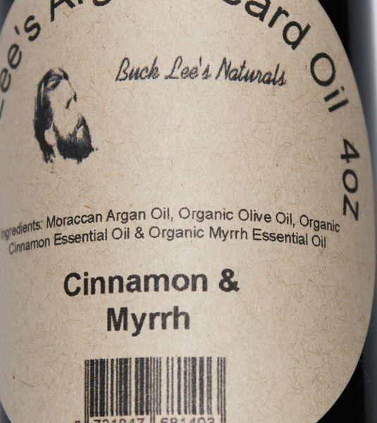 Buck Lees All Natural Argan Cinnamon and Myrrh Beard Oil 4oz