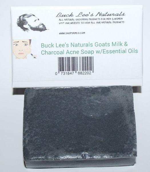 Buck Lees Naturals Acne Charcoal Cleansing Soap Bar