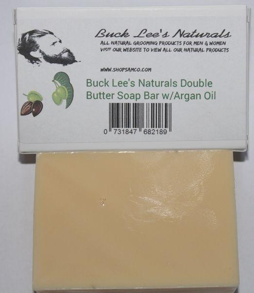 Buck Lees Naturals Double Butter Soap Bar with Argan Oil