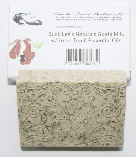 Buck Lees Naturals Goats Milk Tazo Green Tea With Essential Oils Bar Soap