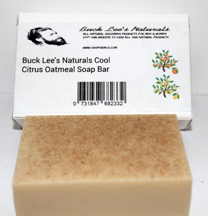 Buck Lees Naturals Cool Citrus Oatmeal Soap Bar