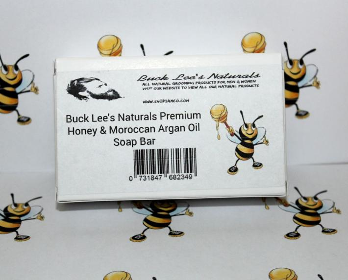 Buck Lees Naturals Premium Honey And Moroccan Argan Oil Soap Bar