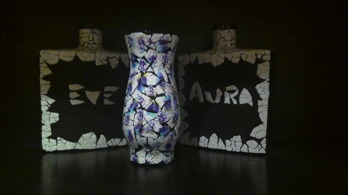 Vase Blue Purple and Green