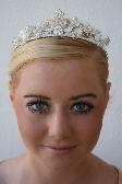 Athena Rhinestone and Swarovski Crystal Floral Bridal Tiara