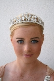 Catherine Rhinestone and Crystal Halo Bridal Tiara Inspired by Royal Wedding
