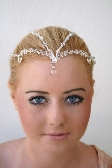 Crystal Bridal Tiara Brow Head Piece Fairy Circlet Empress