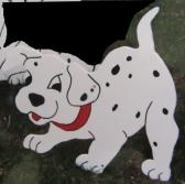 Handmade Custom painted Dalmation puppy number 1 for your yard