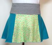 Mixed Panel Flare Skirt