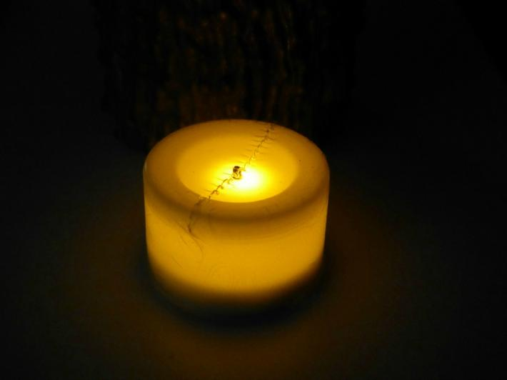Dripping Candle with Creepy Spider