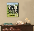 Cow painting giclee on canvas print with gallery wrap 16x20 from an original oil painting
